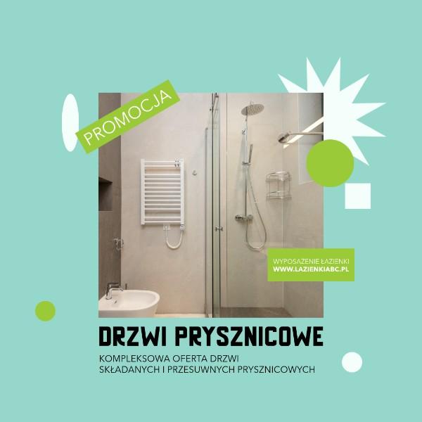 drzwi prysznicowe składane